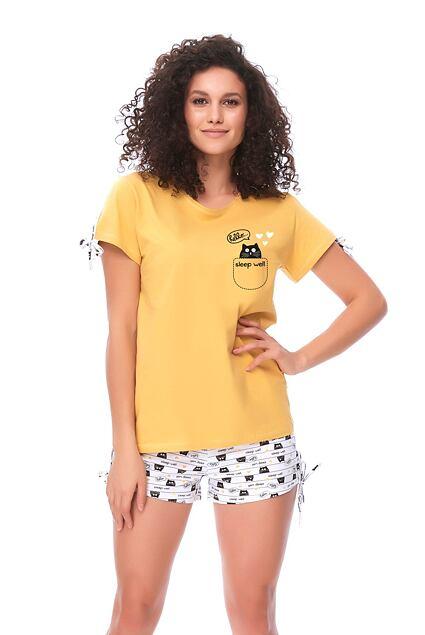 Pijama galbenă Hello Cat