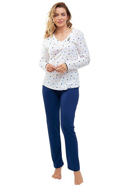Pijama de damă Lila alb cu buline