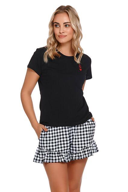 Pijama scurtă de damă Queen neagră