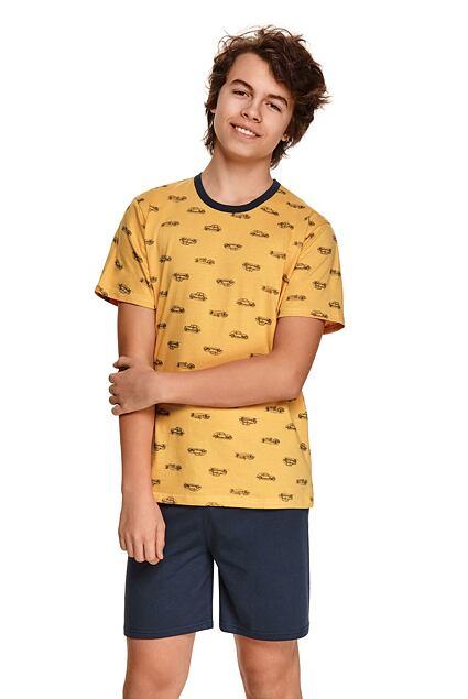 Pijama pentru băieți Max galben cu mașini