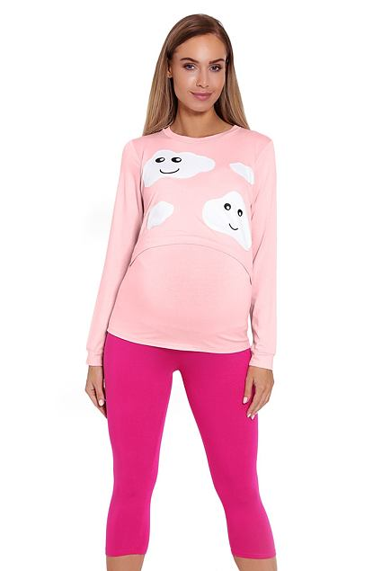 Pijama maternă Melany roz
