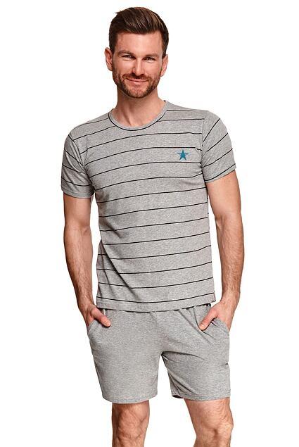 Pijama bărbați Bruno gri cu dungi