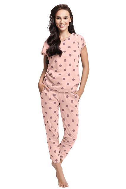 Pijama de damă Destiny somon