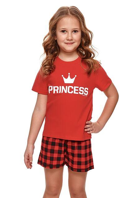 Pijama scurtă de fete Princess roșie