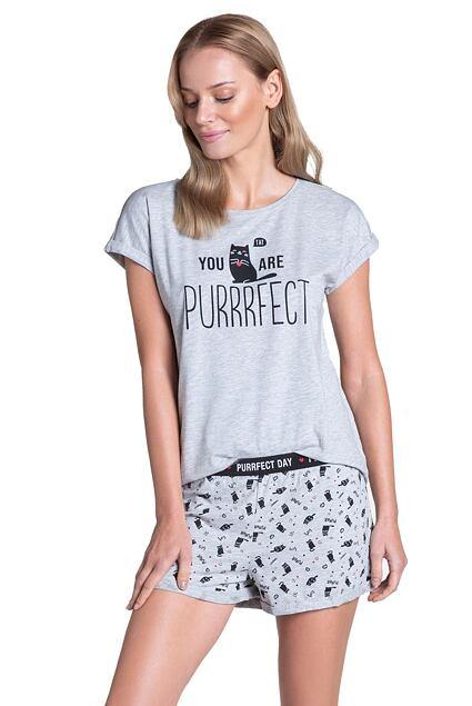 Pijama scurtă Timber gri