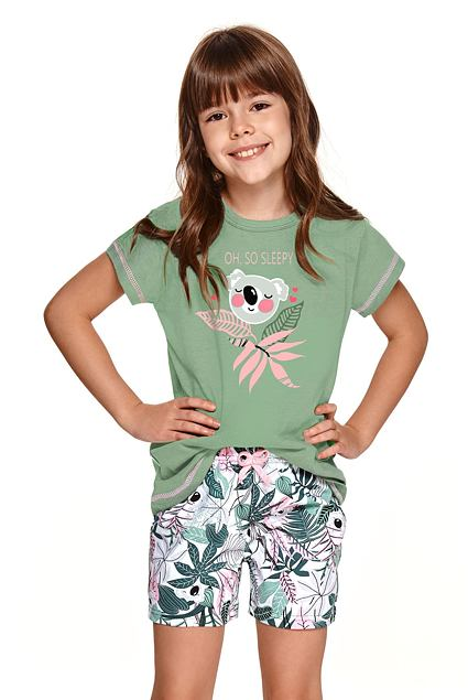 Pijama pentru fete Hanca verde cu koala