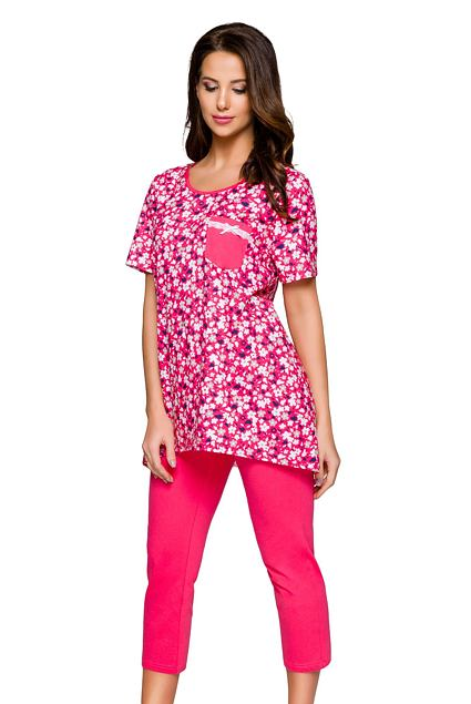 Pijama Darina cu model floral