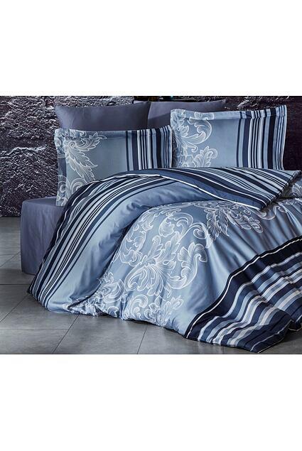 Lenjerie de pat din satin de lux Sonet gri